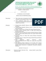 Sk Standar Layanan Klinis1
