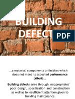 Week 3_1 Building Defects