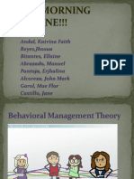 Behavioral Management Theory 1