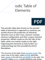 Periodic Table of Elements (chemistry)