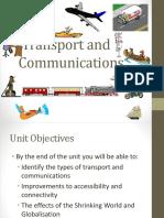 Unit8 Transport Andmcommunications