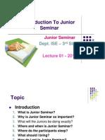Introduction to Junior Seminars- Lec01