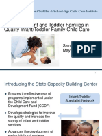 Infant and toddler :families care