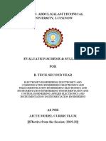 B.tech. 2nd Year EC&EI AICTE Model Curriculum 2019-20