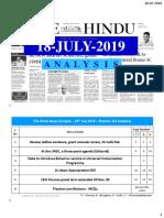 18-07-2019 - Print-Friendly Handwritten Notes - Shankar IAS Academy