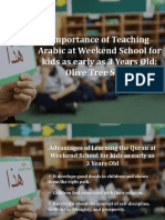 Importance of Teaching Arabic at Weekend School for Kids as Early as 3 Years Old