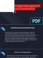 Project Management in E Governance
