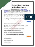 Modern India History Mcq