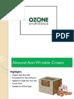 Ozone Ayurvedic Anti Wrinkle Cream