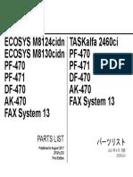 Kyocera ECOSYS M8124,M8130 - Parts List [2017]