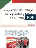 Inspección de Trabajo en Seguridad y Salud Ocupacional