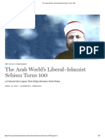 The Arab World's Liberal–Islamist Schism Turns 100