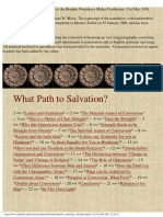 What Path to Salvation