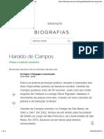 Haroldo de Campos - Biografias - UOL Educação