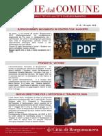 Notizie Dal Comune di Borgomanero del 18 Luglio 2019