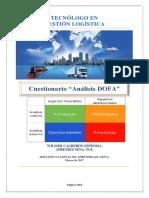 """Evidencia 1.4 Cuestionario """"Análisis DOFA"""""""