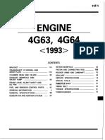 1G - 4G63 4G64 1993 ENGINE