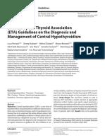 Central Hypothyroidism Eta 2018