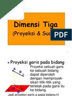 Dimensi Tiga Proyeksi Sudut Edit