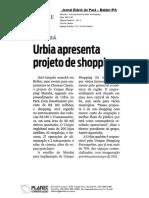 09.11.10. DIÁRIO DO PARÁ - URBIA APRESENTA PROJETO SHOPPING