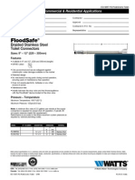 FloodSafe Braided Stainless Steel Toilet Connectors Specification Sheet