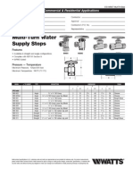 Multi-Turn Water Supply Stops Specification Sheet