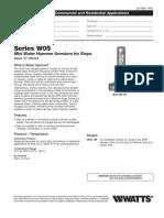 Series W05 Mini Water Hammer Arrestors for Stops Specification Sheet
