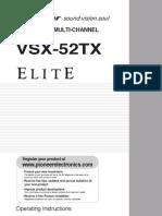 Pioneer Vsx-52tx Operating Instructions