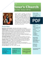 st saviours newsletter - 21 july 2019 - trinity 5  ot16