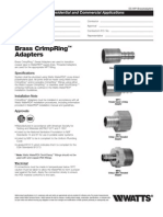 WaterPEX BrassAdapters Specification Sheet