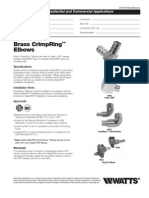 Brass CrimpRing Elbows Specification Sheet
