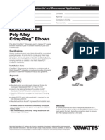 Poly-Alloy CrimpRing Elbows Specification Sheet