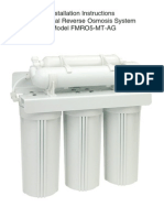 Residential Reverse Osmosis System Model FMRO5-MT-AG Installation Instructions