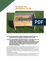 Como Construir Un Deshidratador Solar