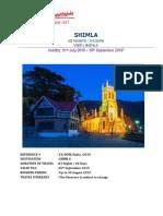 Shimla- 03 Nights 04 Days