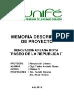Memoria Descriptiva de Proyecto Edif. Mixta