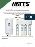 SERIES WQT4 RO Installation Instructions