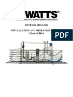 Reverse Osmosis Model #R44 Installation Instructions