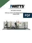 Reverse Osmosis Model # R48 Installation Instructions