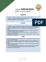scout de Venezuela Especialidad Astronomia
