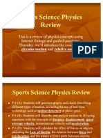 Sports Science Physics Review