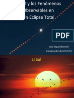 Eclipe Solar Fenomenos Observables Sin Video