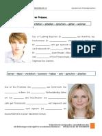 a1 Das Prasens Erganzen Sie Die Verben Im Prasens Grammatikerklarungen Grammatikubungen 97563