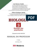 Amabis e Martho, biologia vol 3