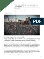 Mar de Aral, Destruído Por Planos Soviéticos de Irrigação