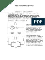 Electric Circuits Quantities