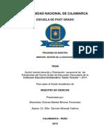 Tesis Acción Tutorial Docente y Orientación Vocacional de Las Estudiantes Del Quinto Grado de e