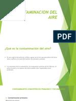 CONTAMINACION DEL AIRE Diapositivas de Quimica