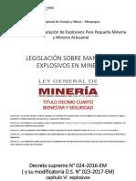 1 Legislacion Explosivos en Mineria