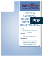 Gestión Ambiental Municipal Del Distrito de Independencia